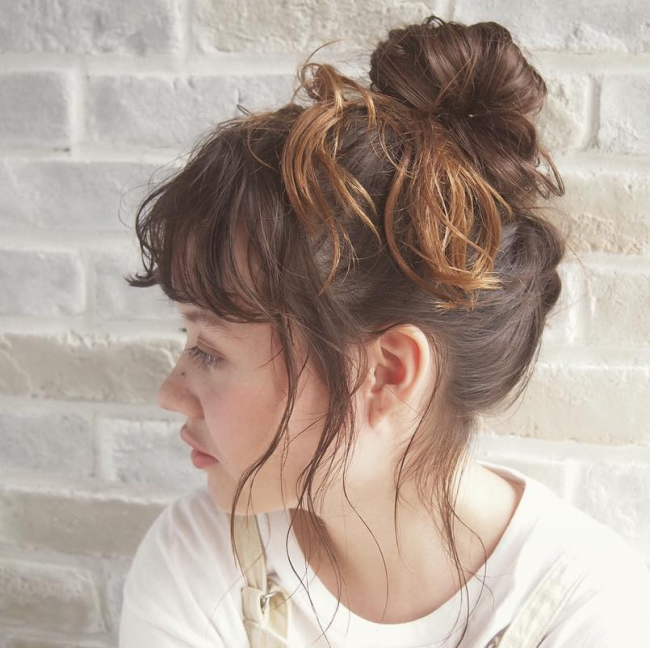 Wild Bangs with a Knot