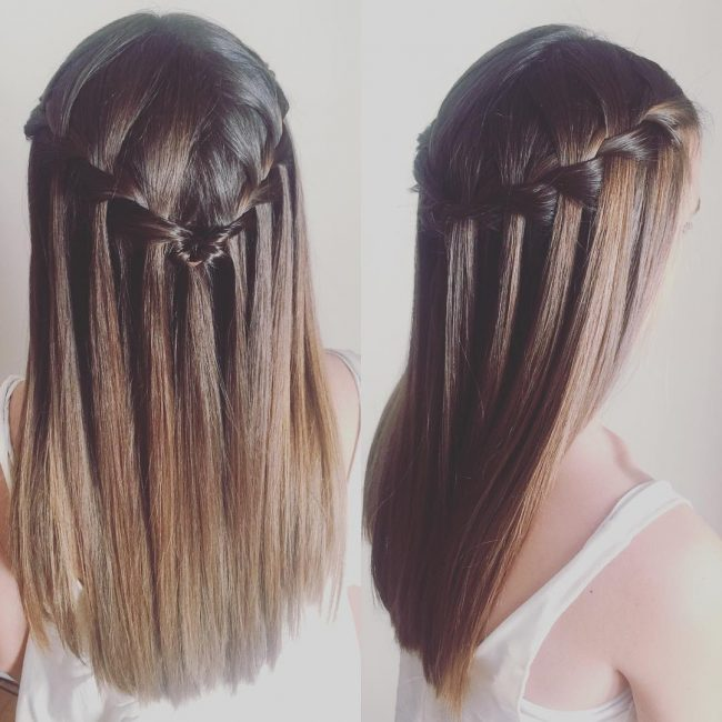 Adorable Waterfall Braid