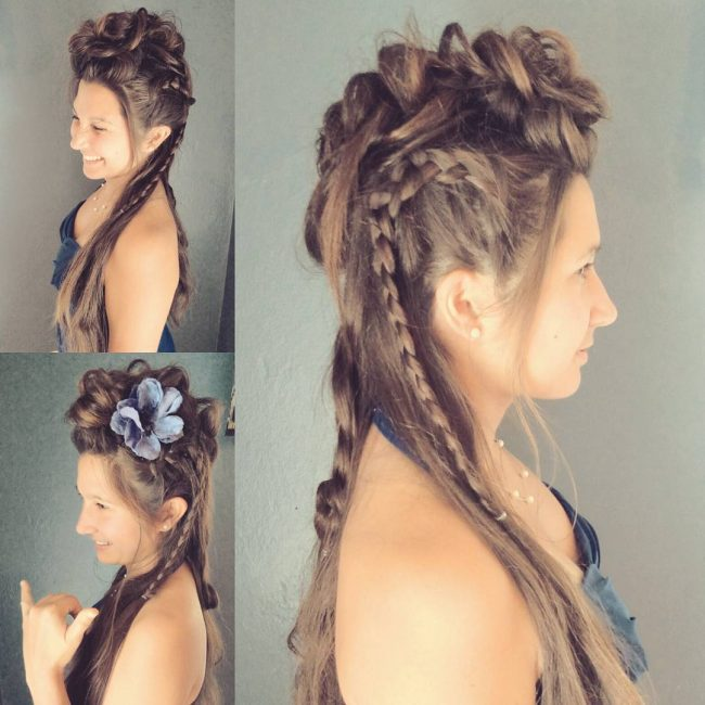 Adventurous Braided Mohawk