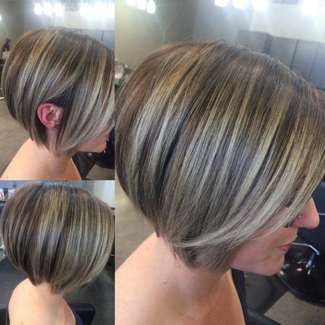 Ash Blonde for Bob Cut