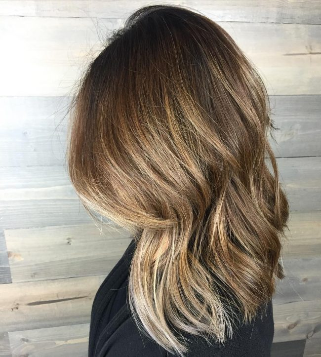 Ash Brown Balayage Ombré