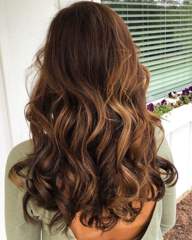 Balayage Baby Lights on a Brown Base