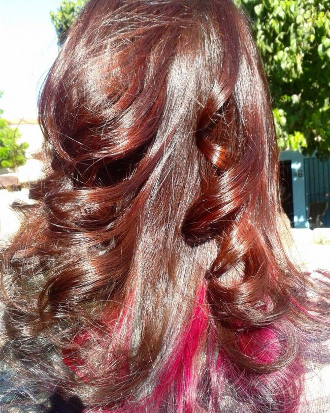 Black Cherry Blowout with Peek-a-Boo