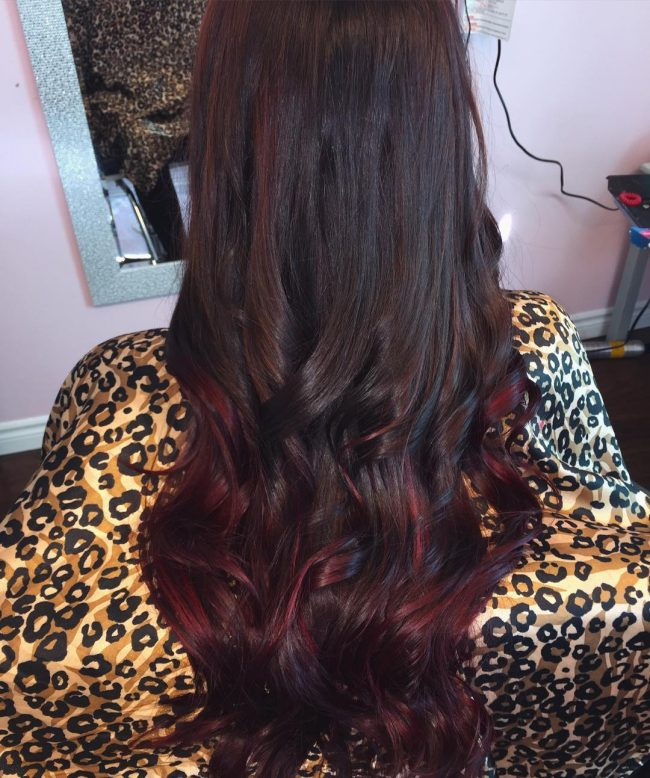 Black and Cherry Color Melting