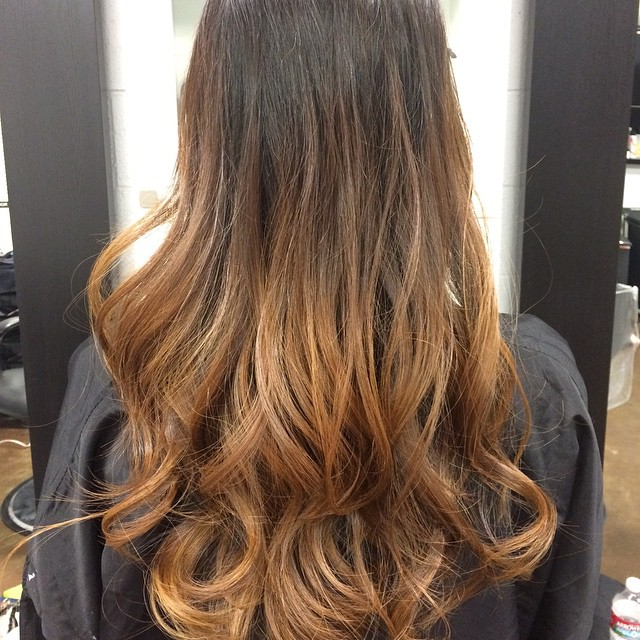 Black to Light Brown Ombre