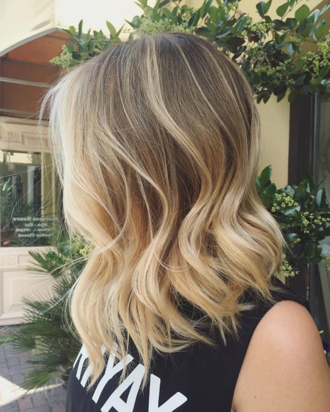 Blonde Lob Perfection