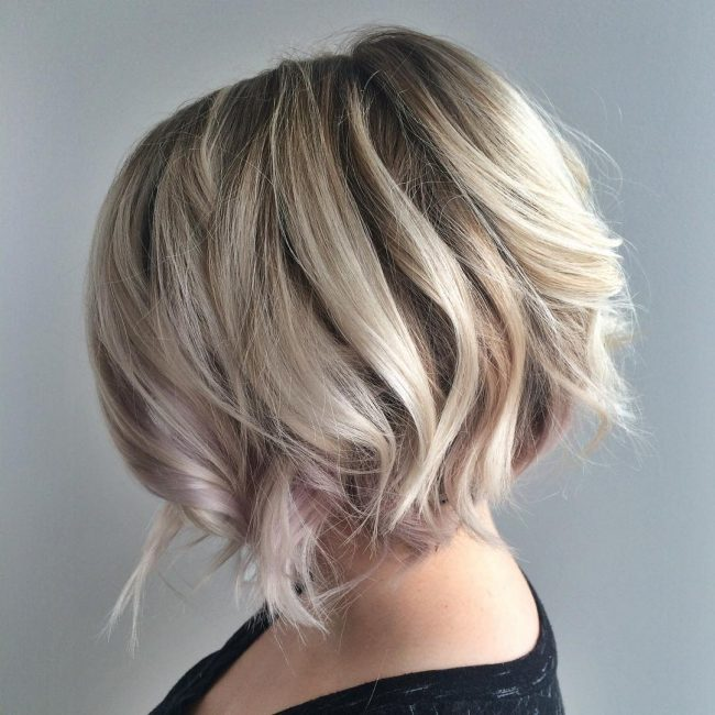 Blondie Undercut Bob