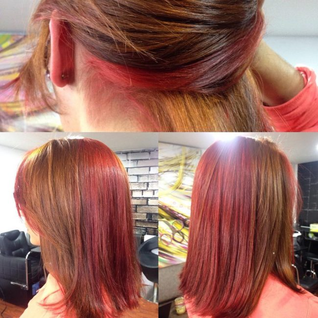 Blunt Copper and Red Tresses