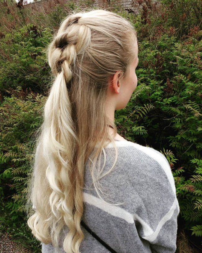 Braided Half Ponytail