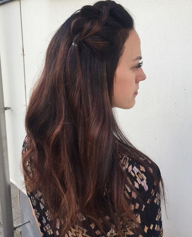 Braided Honey Brown Sombre