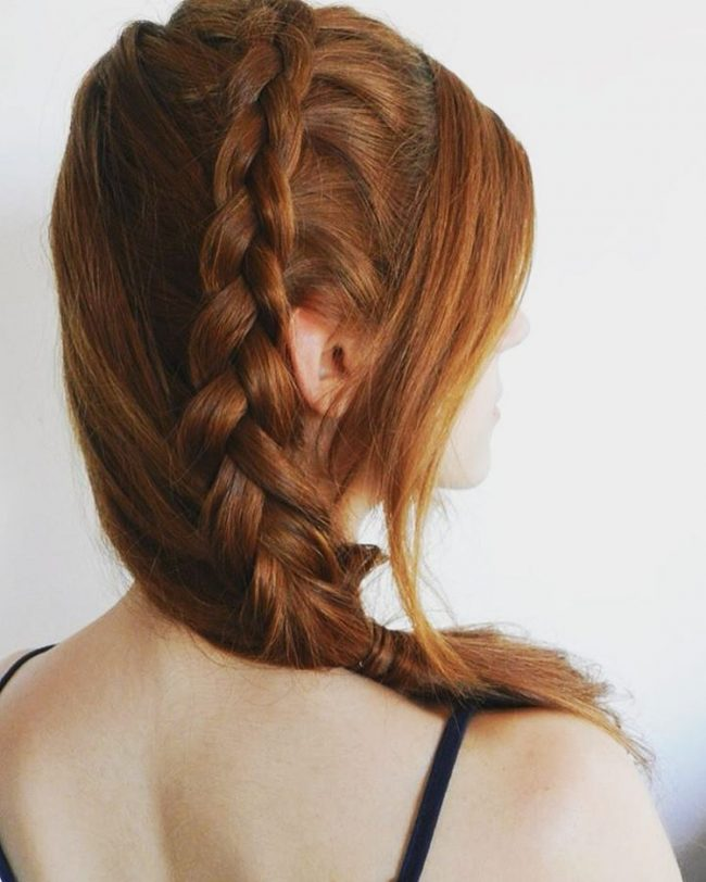 Braided and Stylish Redhead