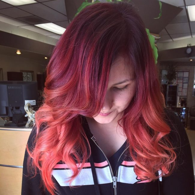30 Greatest Ideas For Red Ombre Hair Fiery Summer Trend