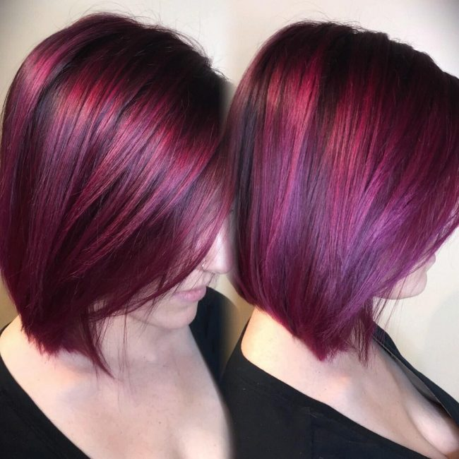 Burgundy with Purple Tint