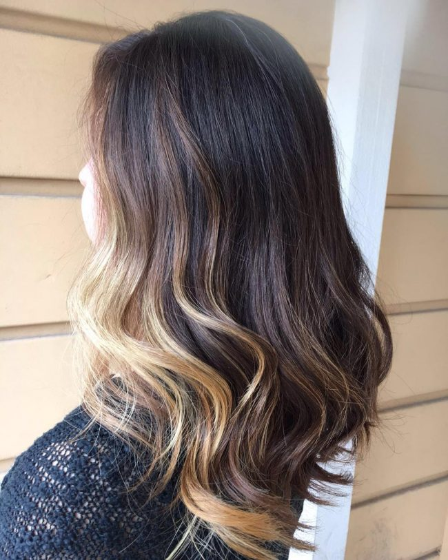 Charming Blonde Partial Highlights