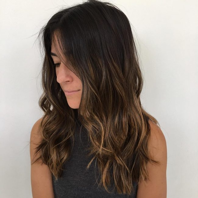 Choppy Brunette Layers