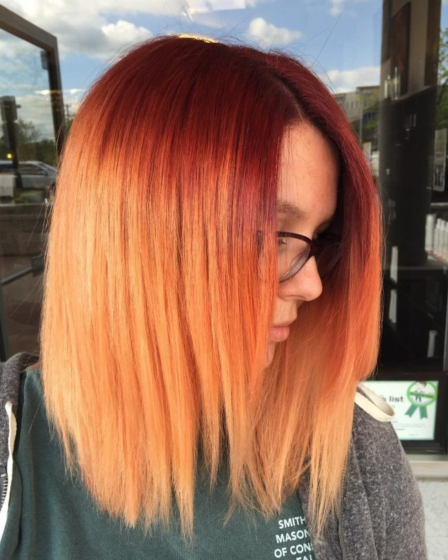 Classy Red to Orange Ombre