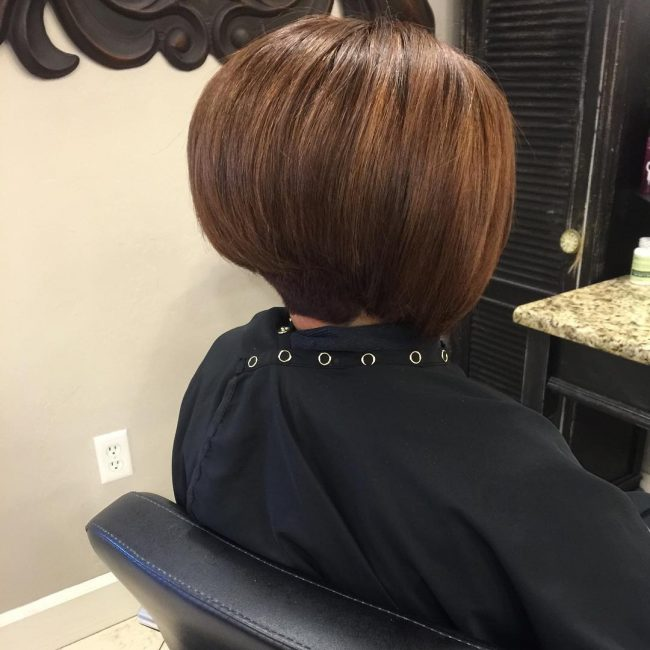 Concave Bob with a Tapered Undercut