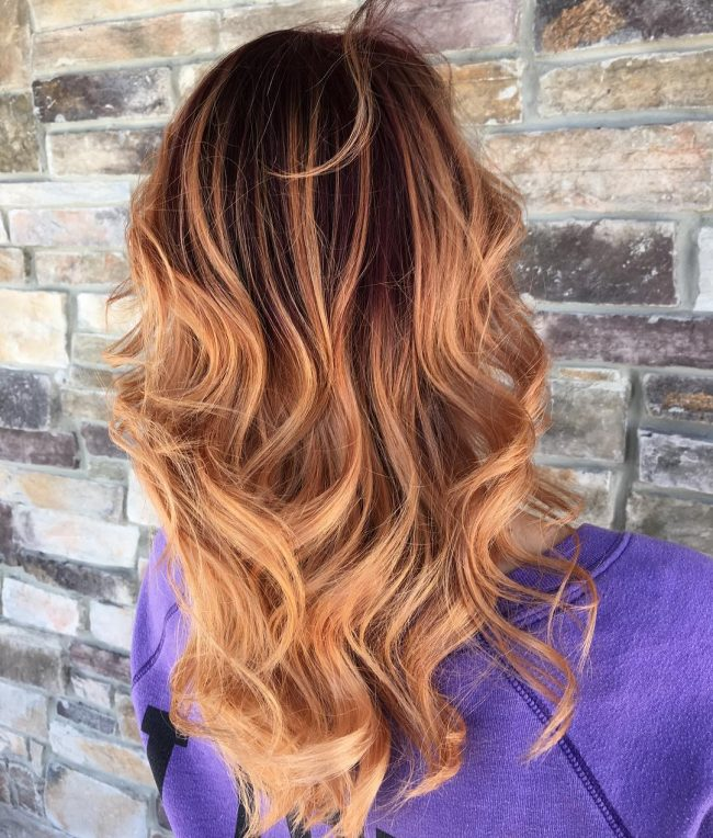 Copper to Light Brown Ombre