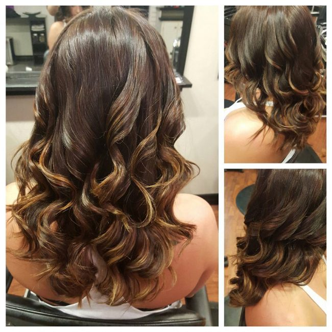 Curly and Shiny Soft Ombre