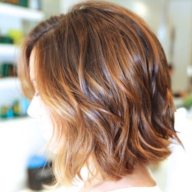 Cute and Colorful Wavy Bob