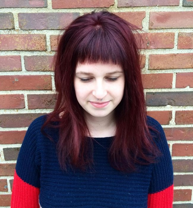 Dark Red for Bang Style