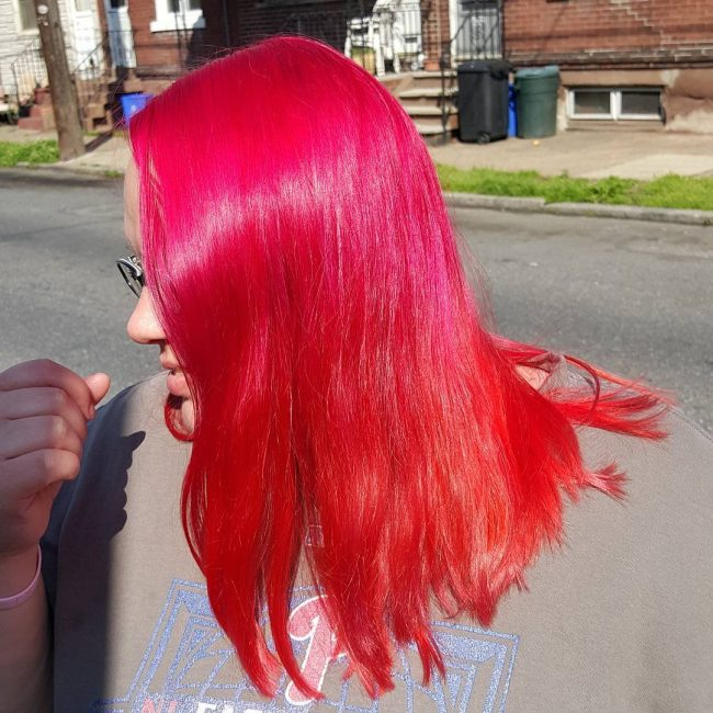 Dazzling Red to Orange Ombre