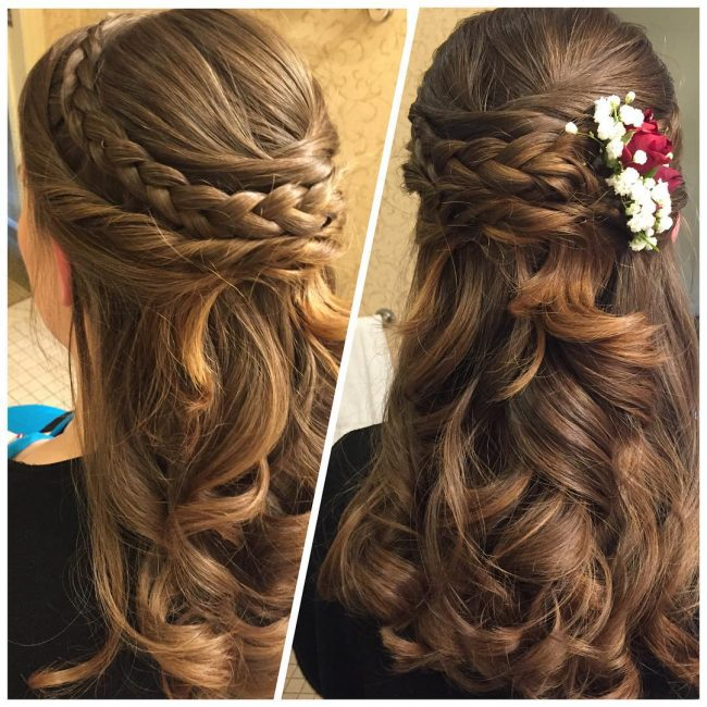 Delightful Curly Bridal Hair