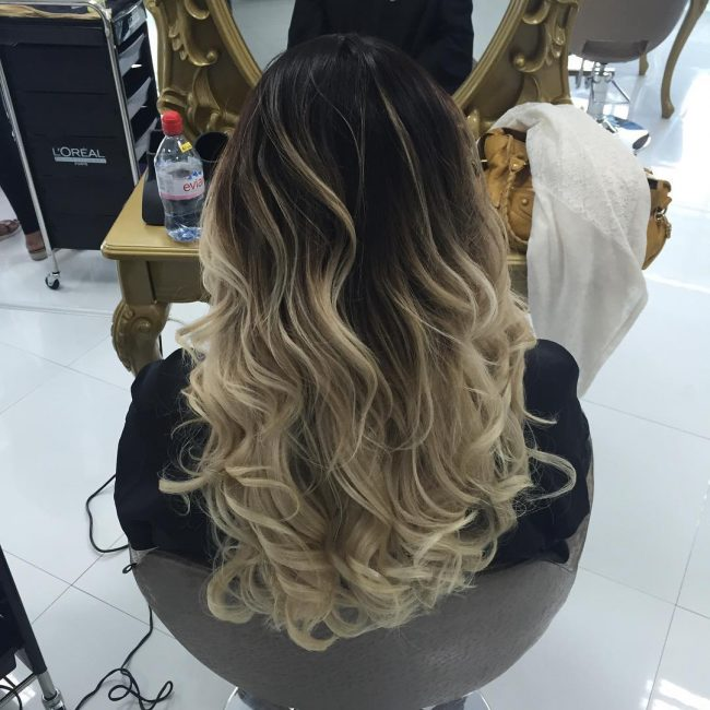 Dramatic Ombre Balayage Hair
