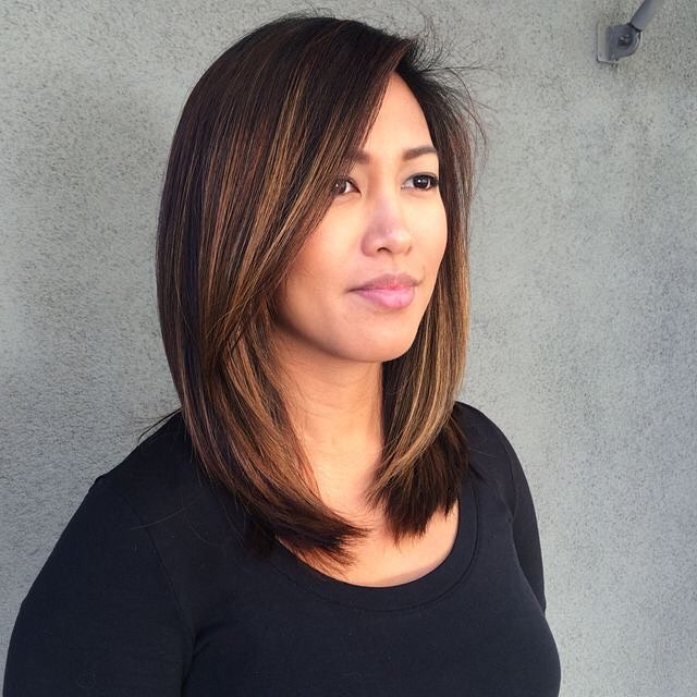 Edgy Light Brown Lob