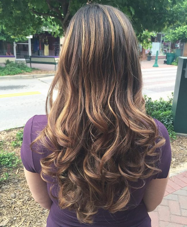 Exquisite Honey and Caramel Balayage