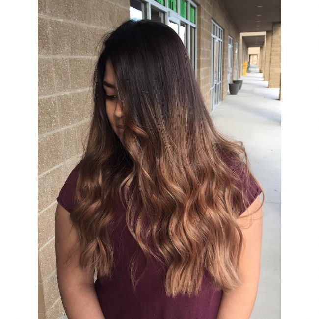 Fancy Black to Caramel Ombre