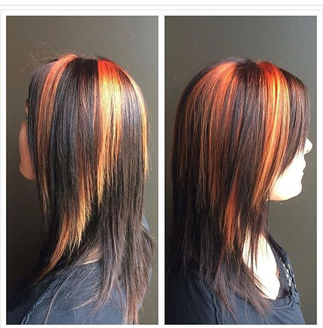 Fiery Shoulder Length Strands