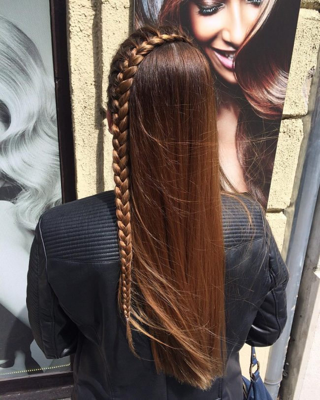 French Braid and Dark Color Melt