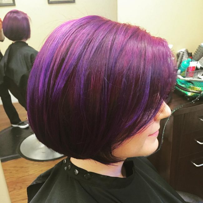 Fun Bob with Purple Color Melt