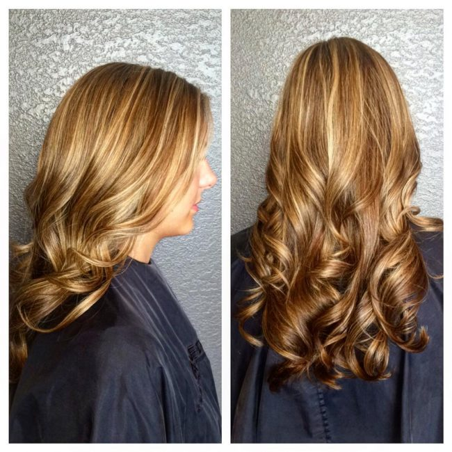 Glowing Brown Locks