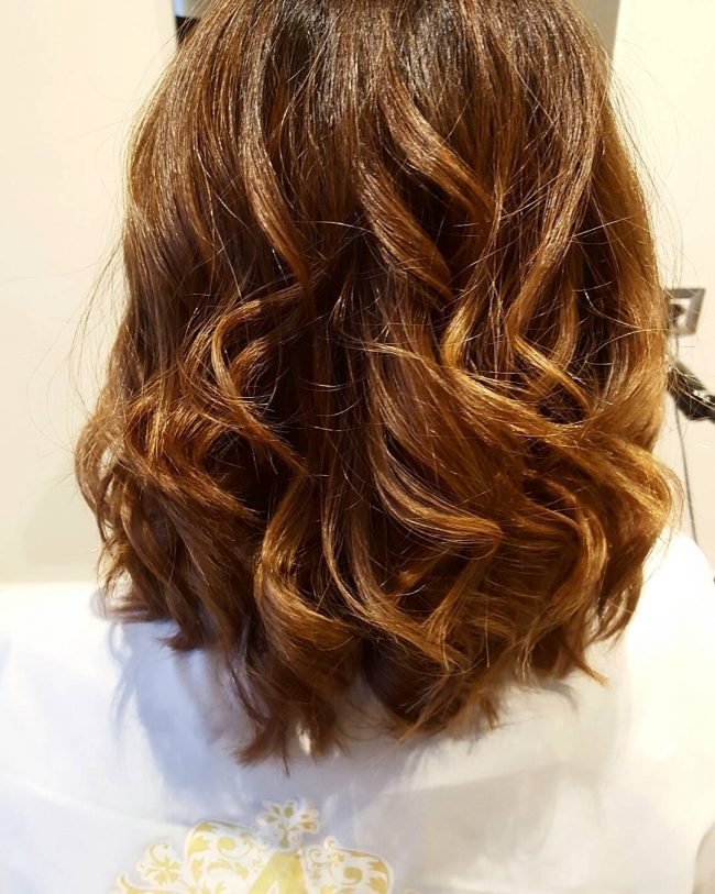 Golden Wavy Lob