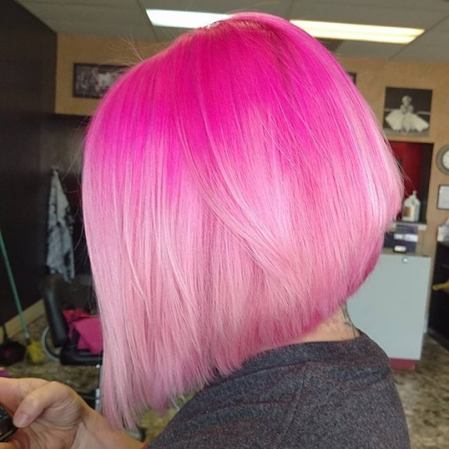 Gorgeous Bright Pink Hair