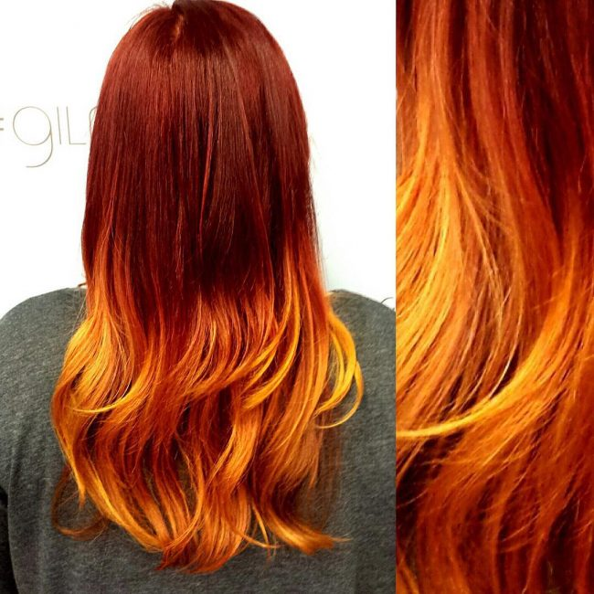 Gorgeous Melt of Copper, Orange, and Red