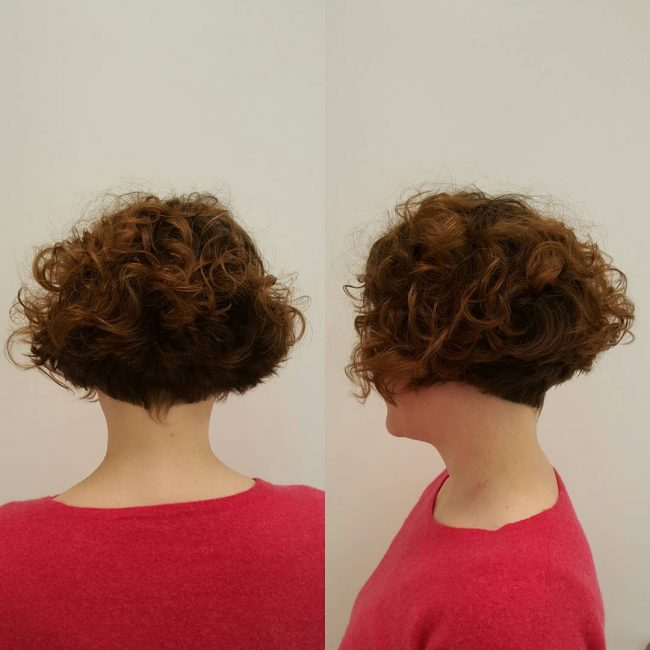Graduated Curls with an Undercut