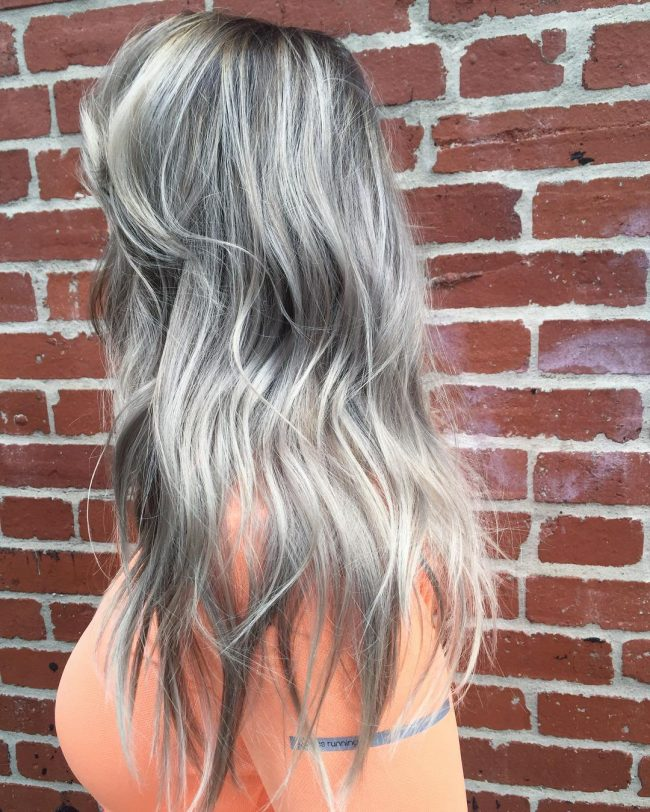 Gray and Silver Ombré
