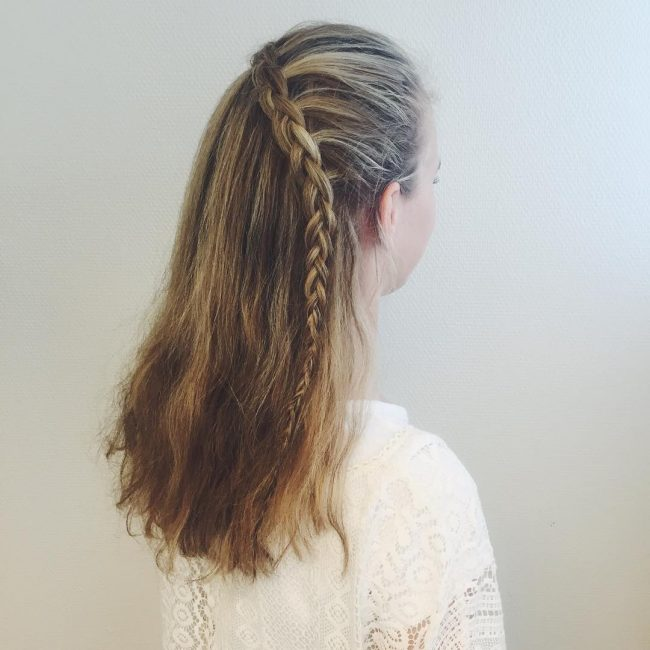 Half Up Loose Lace Braid
