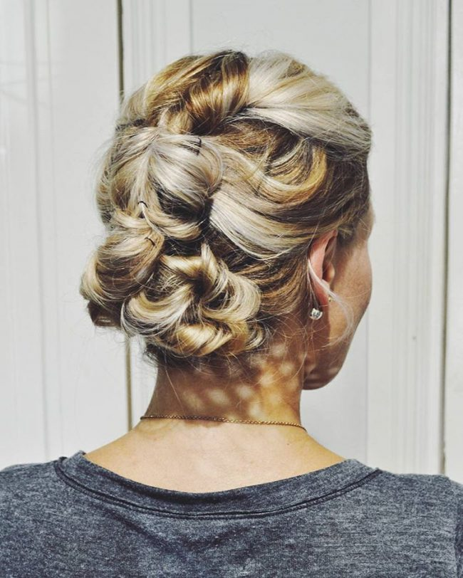Honey Blonde Updo