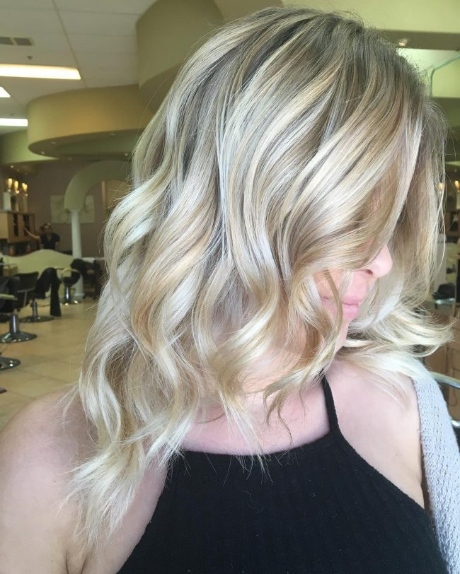 Icy Blonde Balayage Ombré