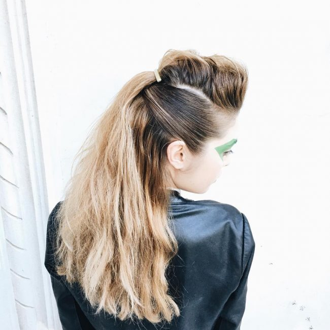 Inventive Half Up Ponytail