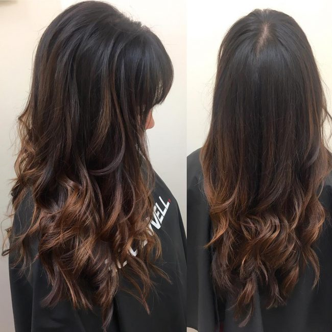 Long Layered Hand Painted Ombre Locks