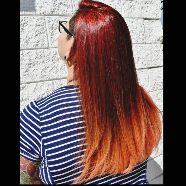 Luxurious Red to Orange Ombre