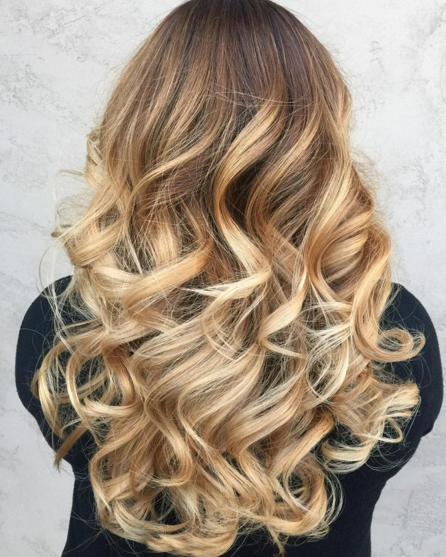 Natural Rooty Blonde Ombre