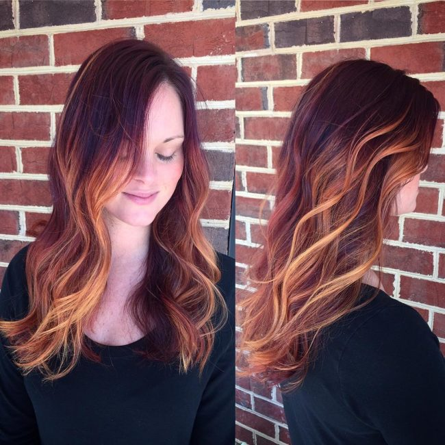 Ombre with Partial Streaks