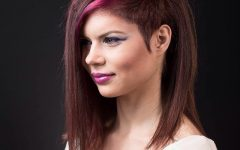Partial Pink Streaks on Chocolate Brown