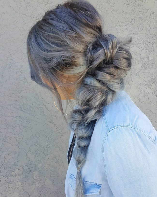 Pastel Braided Hair